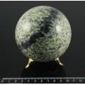 Шар из змеевика Южно-шабровского диаметр 85-90мм, 850-1080гр