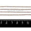 Цепочка 2*1,5 мм, нержавеющая сталь, покрытие оксид титана, цвет розовое золото, 1 метр/упаковка