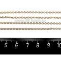 Цепочка 2*1,5 мм, нержавеющая сталь, покрытие оксид титана, цвет античное золото, 1 метр/упаковка