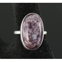 C925 Кольцо серебро с чароитом, овал 23х14х11мм