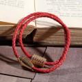 """Браслет """"Нить желаний"""" шнурок удачи с подвеской, цвет красный"""