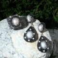 Гарнитур 2 пр: серьги, кольцо, вечерний жемчуг , безразмерное