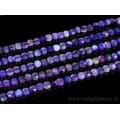 Бусины из агата тониров. круг гр.6мм цв.фиолетовый, 38,5см, 63 бусины