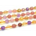 Бусины для рукоделия из самоцветов шарик с гранями 8мм, 19см, сет 16 бусин