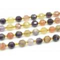 Бусины для рукоделия из самоцветов шарик с гранями 9мм, 19,5см, сет 16 бусин