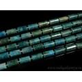 Бусины из апатита цилиндр с гранями 10*15мм, 39см, 21 бусина