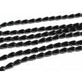 Бусины для рукоделия из оникса черного капелька 6*9мм, 39,5см, 43 бусины