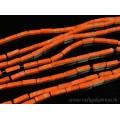 Бусины из варисцита (иск.) брусок4,5*13мм, цвет оранжевый, 38см, 29бусин
