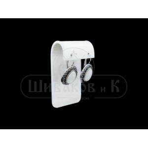 Серьги перламутр (размер камня 18*13 мм)