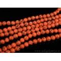 Бусины из кахолонга искусственного шарик 10мм, цвет оранжевый, 39см, 39 бусин