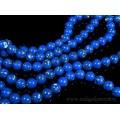 Бусины из кахолонга искусственного шарик 10мм, цвет синий, 40см, 39 бусин