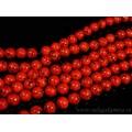 Бусины из кахолонга искусственного шарик 12мм, цвет красный, 39см, 32 бусин