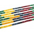Бусины из  кварца тонированного кукуруза гр.4мм цвет ассорти, 33см, 120 бусин