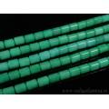 Бусины из кварца тонированного цилиндрик 10*13мм цвет хризопраз, 39см, 31 бусина
