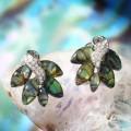 Серьги гелиотис листьев ворох
