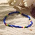 """Браслет """"Бисер"""" разноцветные бусинки, цвет синий, d=5см"""