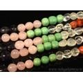Бусины из самоцветов галтовка 7-10мм, 40,5см, 48 бусин