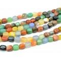 Бусины из самоцветов заоваленный прямоугольник 10*14мм, 39см, 28 бусин