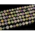 Бусины из самоцветов кубик гр.7-8мм, 40см, 37 бусин