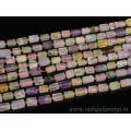 Бусины из самоцветов цилиндр гранями 6*9мм, 37,5см, 34 бусины