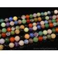 Бусины из самоцветов шарик 10мм, 39,5см, 40 бусин