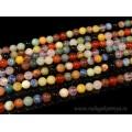 Бусины из самоцветов шарик 8мм, 40см, 51 бусина