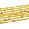 Бусины из опала желтого галтовка 6-7мм, 39,5см, 55 бусин