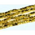 Бусины из пирита тонированного галтовка 12*11мм цвет золотой1, 38см, 32 бусины