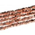 Бусины из пирита тонированного галтовка 12*11мм цвет медный, 38см, 34 бусины