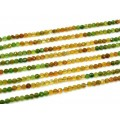 Бусины из турмалина зеленого круг гр.4мм, 38,5см, 104 бусины