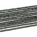 Бусины из шпинели черной кубик гр.3,5мм, 39см, 109 бусин