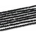 Бусины из шпинели черной кубик гр.4мм, 38,5см, 92 бусины