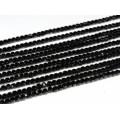 Бусины из шпинели черной кубик гр.4мм, 38см, 95 бусин