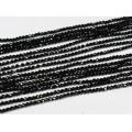 Бусины из шпинели черной (иск.) кукуруза гр.2мм, 36,5см, 205 бусин