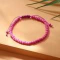 """Браслет """"Бисер"""" тренд минимал, цвет неоново-розовый, см длина 18см"""