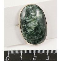 Кольцо из клинохлора (серафинит), овал 31х21мм р-р 17-19