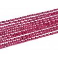 Бусины из шпинели (иск.) шарик гр.3мм цвет рубиновый, 37см, 138 бусин.