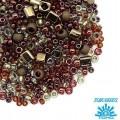 Бисер TOHO Beads Mix, цвет 3205 Ocha-Bronze, 10 грамм/упаковка