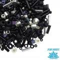 Бисер TOHO Beads Mix, цвет 3225 Yozora-Jet/Silver, 10 грамм/упаковка