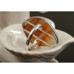C925 Кольцо серебро агат-переливт уральский, камень 27х21мм р-р 18