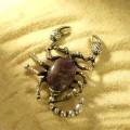 Брошь аметист скорпиончик