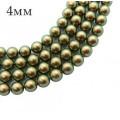 5810 Жемчуг хрустальный 4 мм Iridescent Green 10 штук/упаковка Австрия