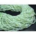 Бусины из кальцита тонированного шарик гр.4мм, цв.зеленый, 38см, 87 бусин