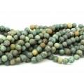 Бусины из хризоколлы шарик 8мм матовый, 36см, 43 бусины