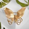 """Брошь """"Бабочка"""" необычная, цвет золото"""