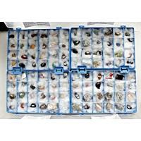 Коллекция минералов и горных пород, 96 образцов в 4 коробках