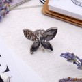 "Брошь ""Бабочка"", цвет серый, цвет серебристый"