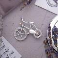 """Брошь """"Велосипед"""", цвет радужный, цвет серебристый"""