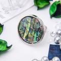 Кольцо гелиотис круг, цвет зеленый, безразмерное
