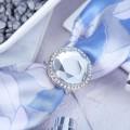 """Кольцо для платка """"Кристалл"""" круг, цвет белый, цвет серебристый"""